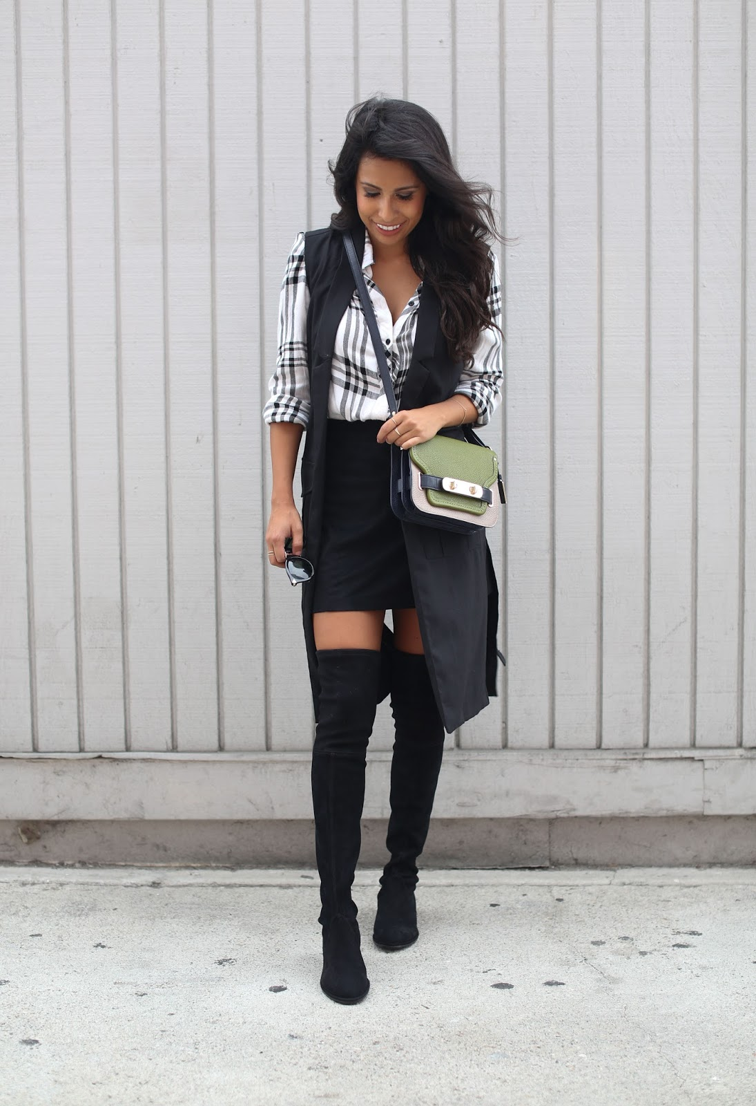 how to wear OTK boots, stuart weitzman lowland boots, fall outfit