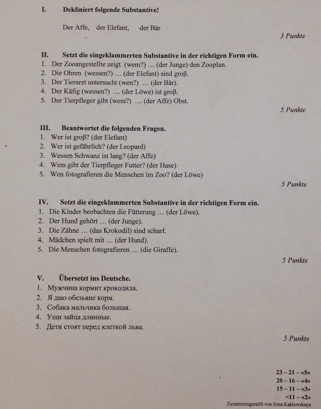Klassenarbeit franzosisch klasse 8