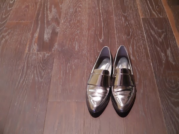 Silver 3.1 Phillip Lim metallic loafers