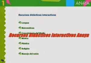 Anaya Recursos Didácticos Interactivos