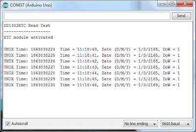 Contoh Rangkaian & Source Code RTC DS1302 + Arduino Uno