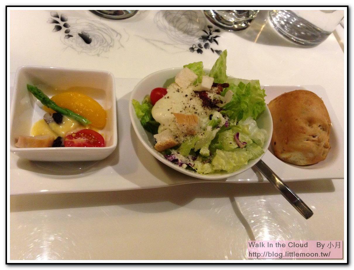 140元套餐的沙拉、前菜與麵包