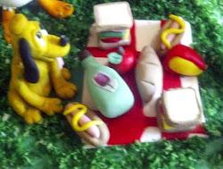Modelado de el  picnic con Mickey