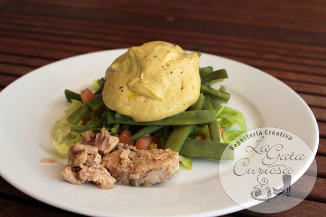 La gata curiosa ensalada de judias verdes con mayonesa - Como hacer judias verdes ...