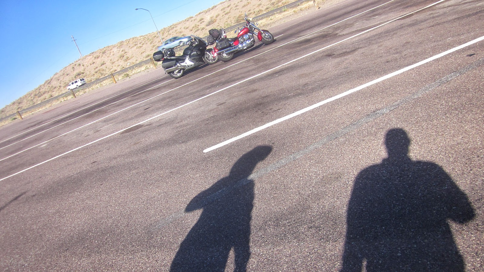 shadows and motorcycles