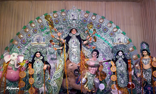 MAA DURGA WITH HER FAMILY