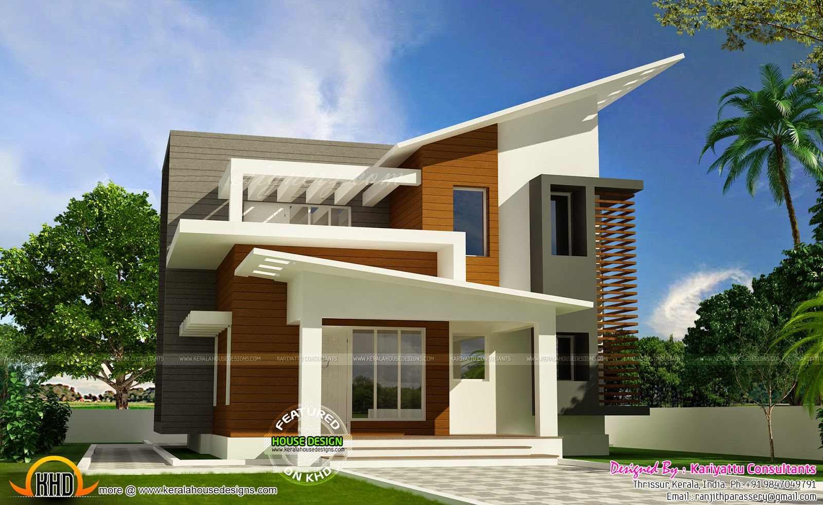 the gallery for vanitha veedu plans contemporary house