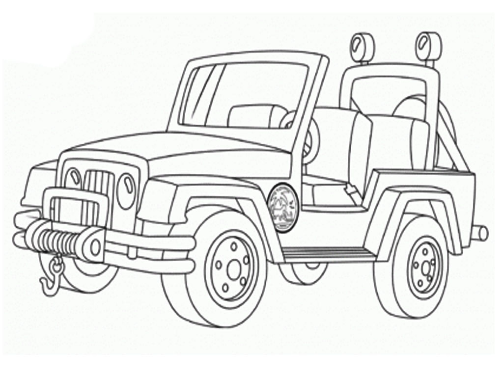 Coloring pages jeep - Military Jeep Coloring Pages Realistic Coloring Pages