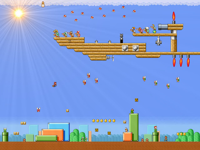 super mario brothers 3 ship level map