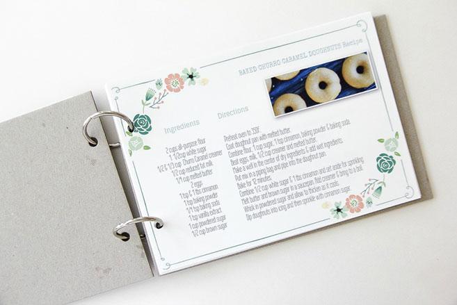 recetario con anillas