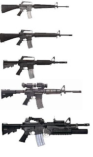 M16a1, M16a2, M16a3, M16a4 Assault Rifle AR15