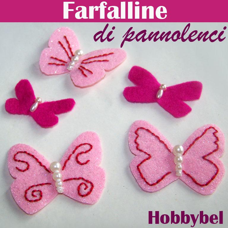 Esempi Piccole Farfalle Di Feltro O Pannolenci Per Decorazioni