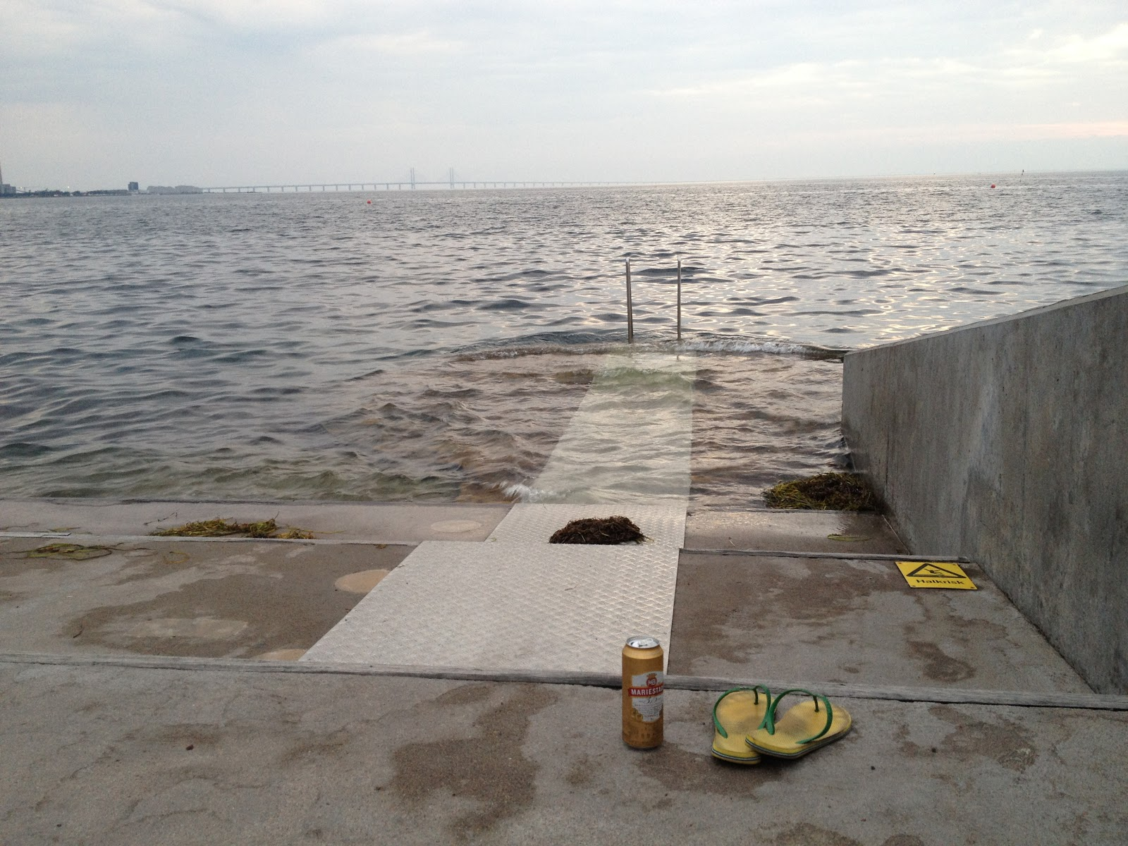 beer, flip flops, and the Oresund Strait
