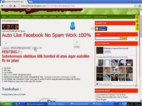 Auto Like Facebook No Spam Work 100 Persen