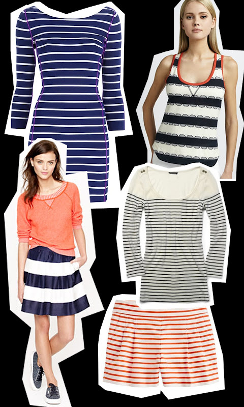 Katie Holmes Get the Look stripes