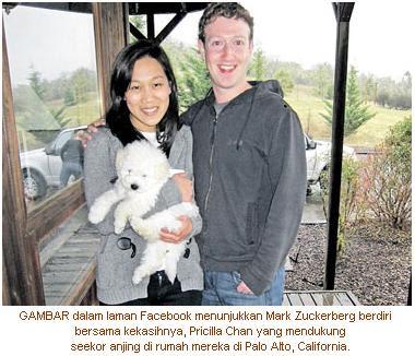 Zuckerberg Buka Akaun Facebook Untuk Anjing