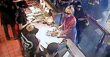 Claim:  Video Shows No Tipping by Mrs. Clinton