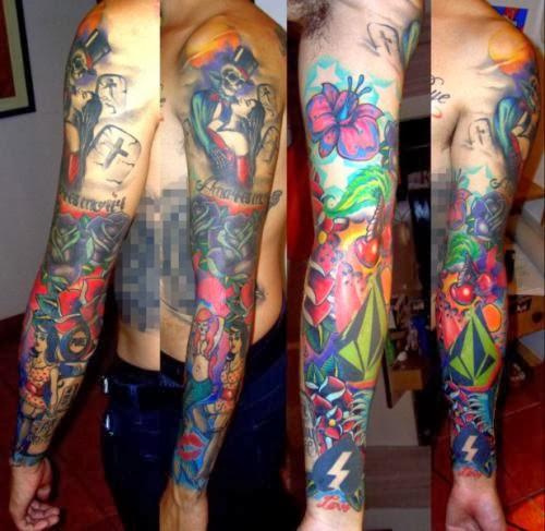 20 Color Sleeve Tattoos: November 2013