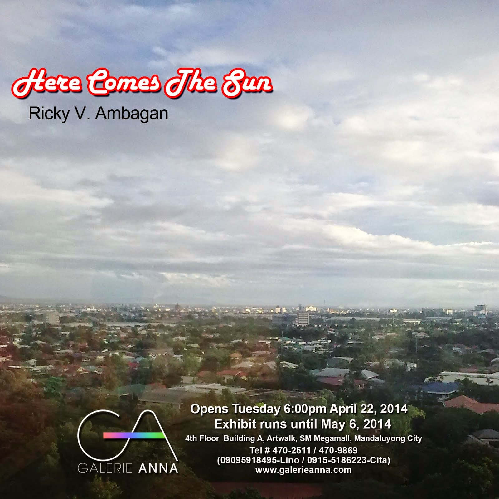 Here Comes The Sun: 5th Solo Exhibition by Ricky Ambagan