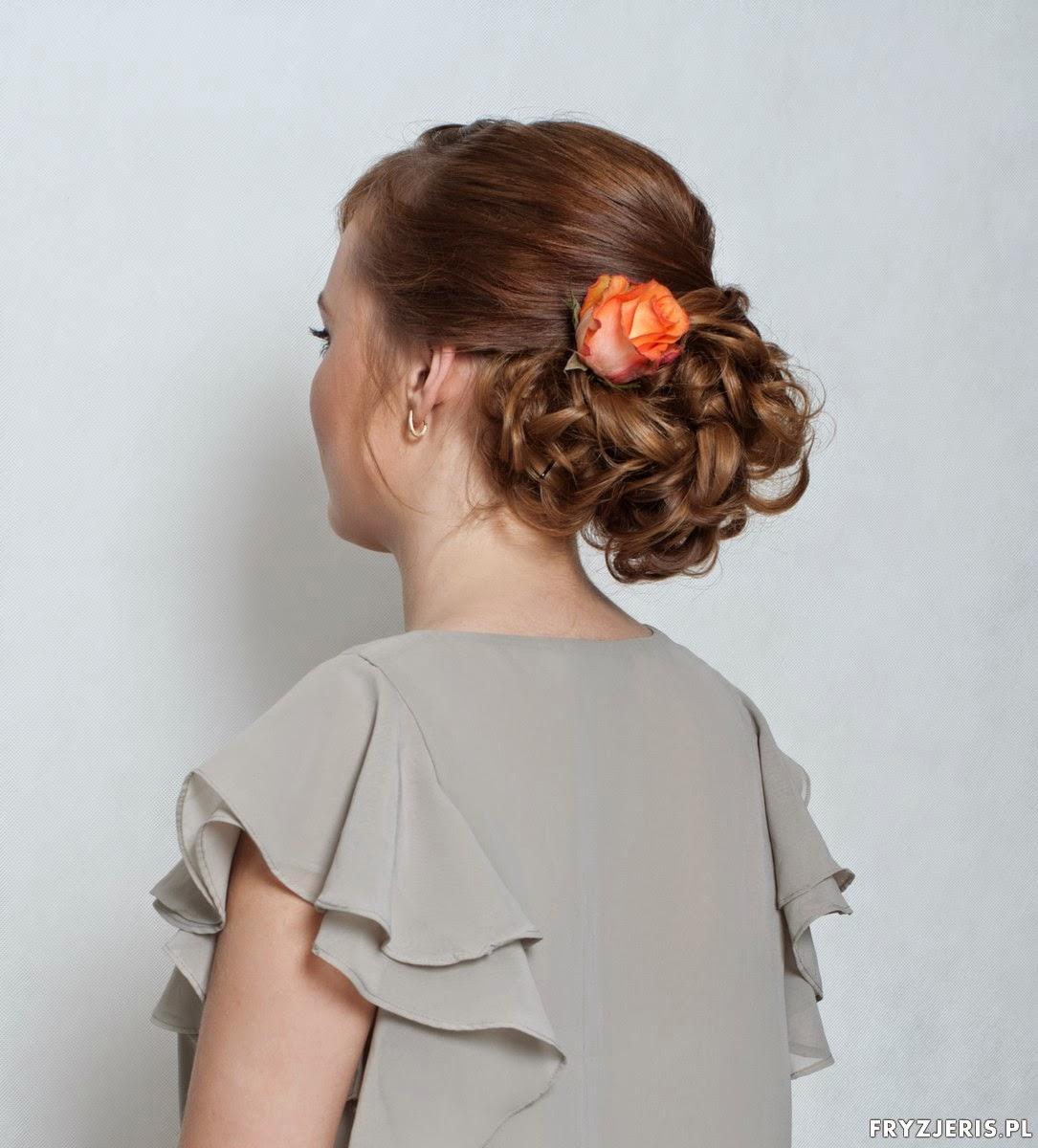 romantyczna fryzura na ślub