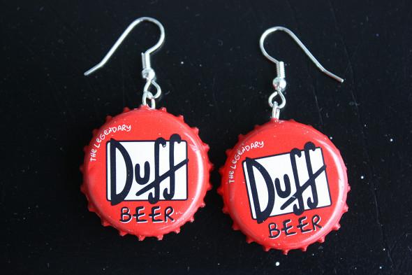Σκουλαρίκια απο καπάκια μπίρας