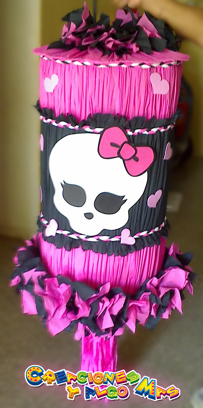 Creaciones y Algo Mas: PIÑATA MOTIVO Monster High - PINATA MONSTER ...