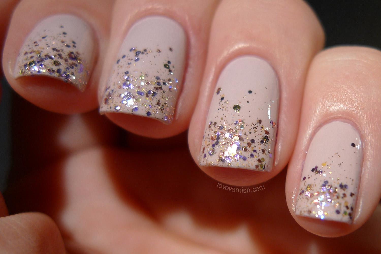 OPI Don't Bossa Nova Me Around and Shimmer Sonia glitter tips