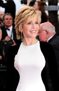 Jane Fonda Shaggy Short Hairstyle