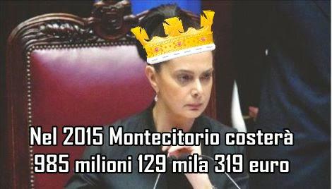 Informati italia alla faccia dei tagli nel 2015 la for Numero deputati italiani