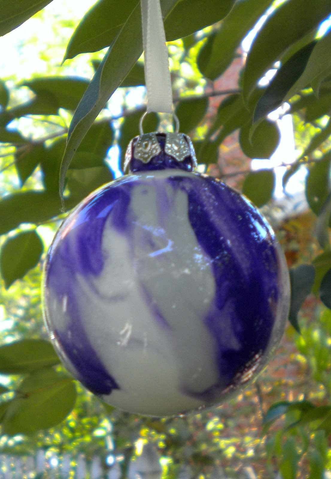 a yellow bicycle pinterest challenge painted ornaments