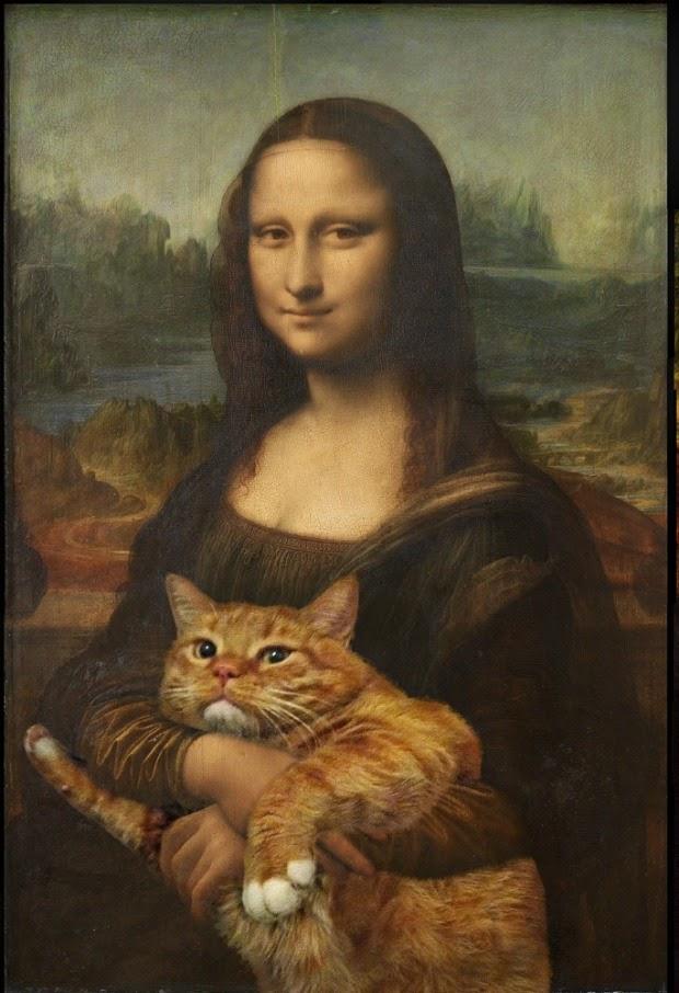 Gato gordo em pinturas clássicas, por Svetlana Petrova
