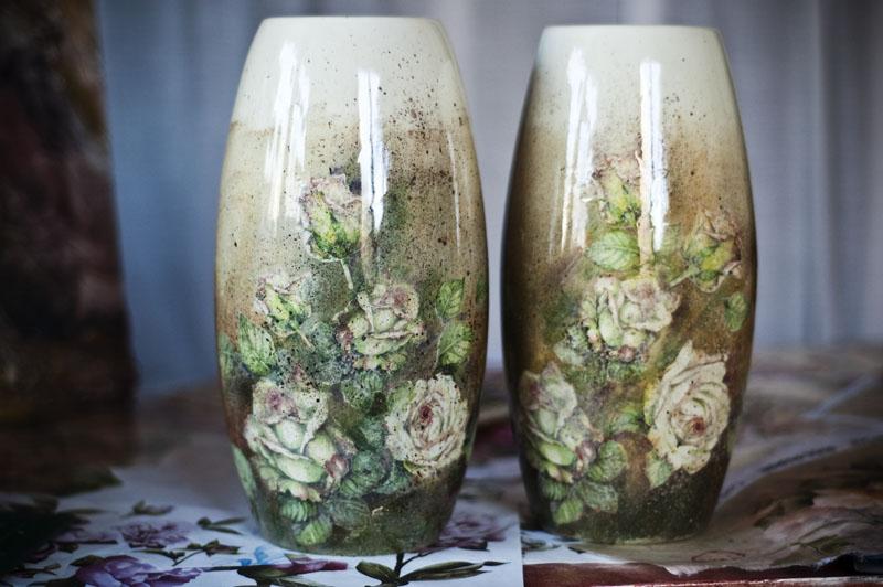 Красивый декупаж вазы