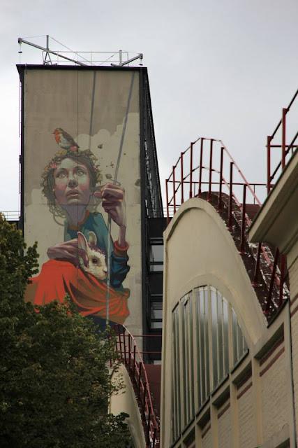 Street Art By Polish Muralist Sainer From Etam Cru In Paris, France. 6