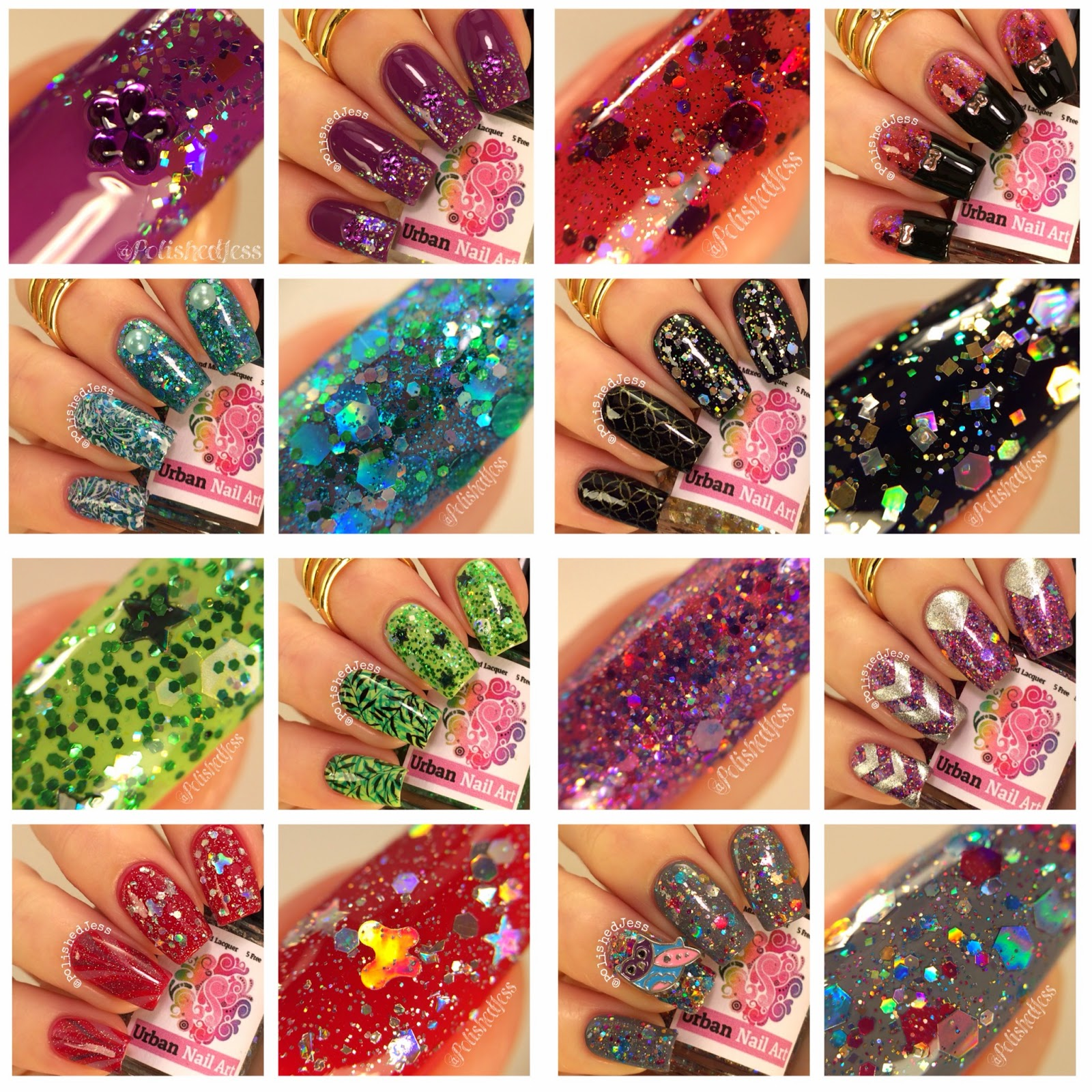 Polished Jess Urban Nail Art Olympia Collection