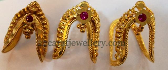 Gold Plain Baby Vanki Gallery Jewellery Designs