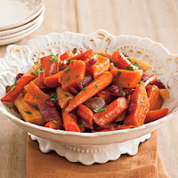 maple glazed root vegetables