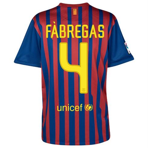 camiseta Cesc Fábregas FC Barcelona 2011 2012