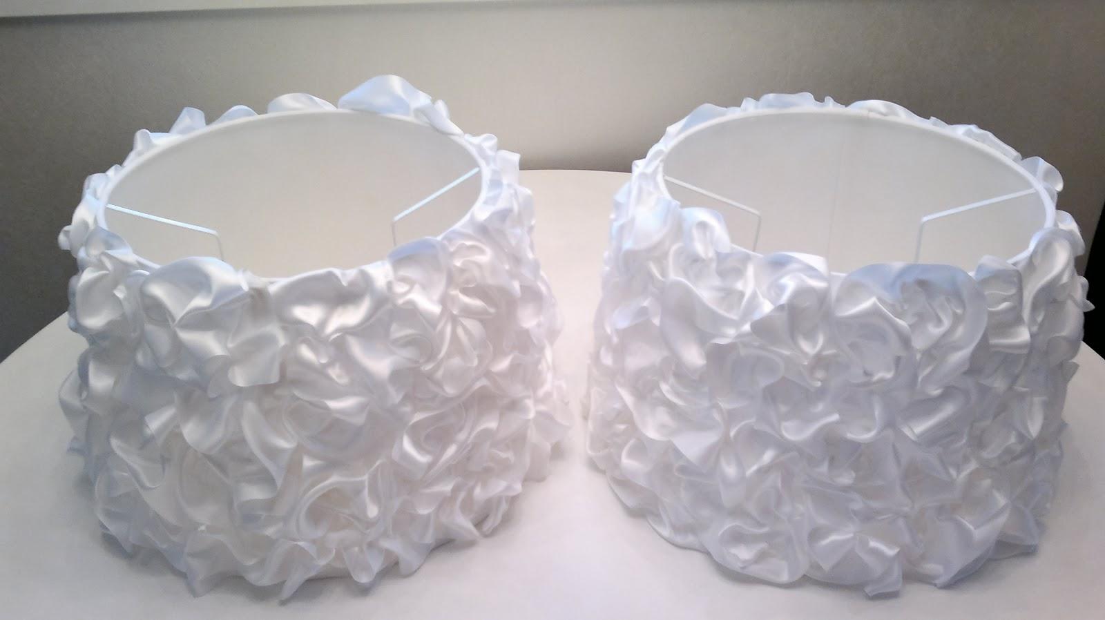 Custom Made Lamp Shade: Fasts & Easy Custom Made Lampshades With Ribbon Ruffles,Lighting