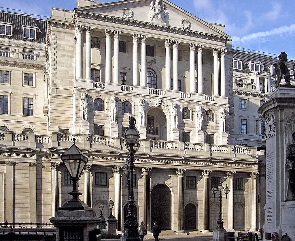 Bank of England, London (Wikipedia)