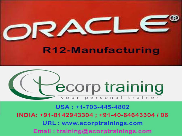Oracle R12-Manufacturing  Online Training