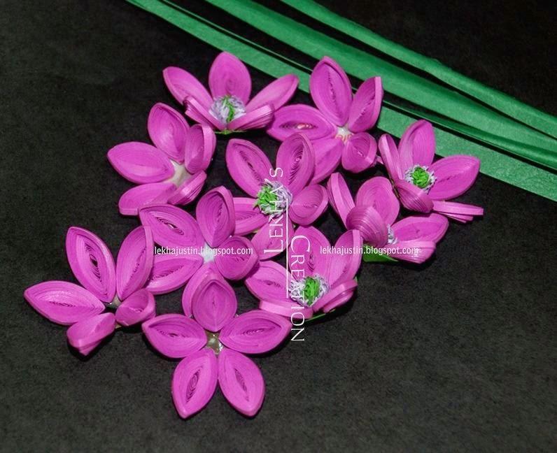 Flower making with duplex paper muckeenidesign flower making with duplex paper laurus cassia flower making with duplex paper mightylinksfo