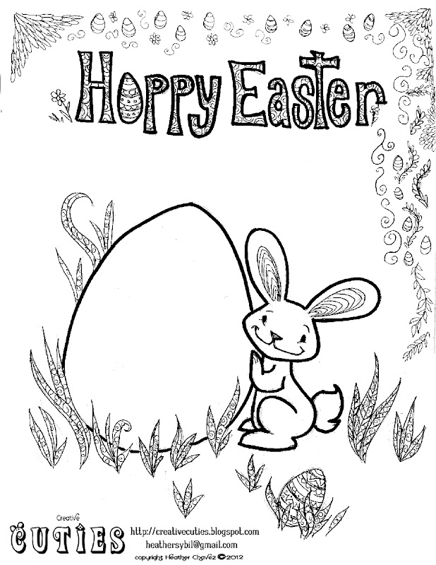 Decorate the egg and the bunny title=