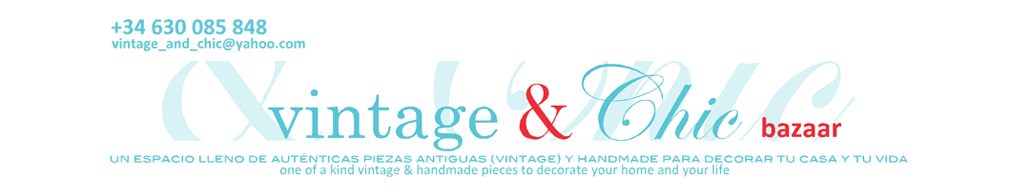 El bazar VINTAGE + CHIC: lmparas, muebles y objetos decorativos 100% vintage!