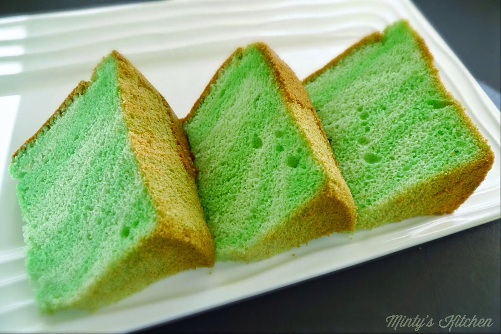 Minty's Kitchen: Scalded/Cooked Dough Pandan Chiffon Cake ...