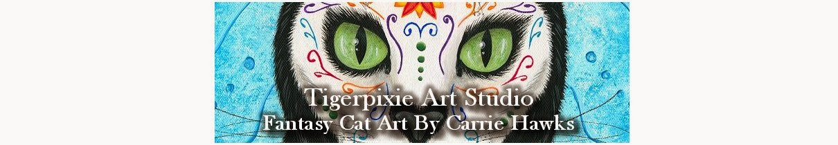"Cat Art Journal by Carrie ""Tigerpixie"" Hawks"