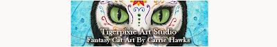 "Cat Art Journal by Carrie ""Tigerpixie"" Hawks"