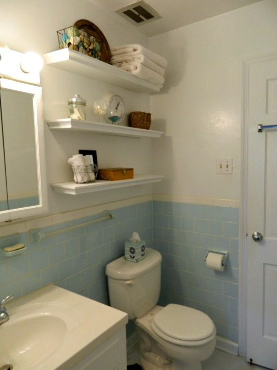 Floating Bathroom Shelves Over Toilet