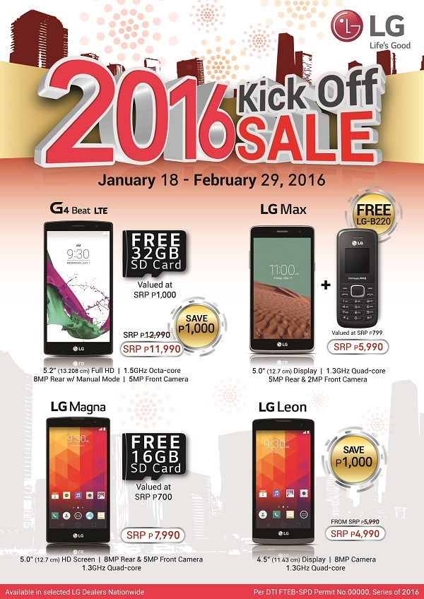 LG Mobile 2016 Kick-Off sale