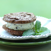 Mint Chocolate Chip Ice Cream Sandwiches
