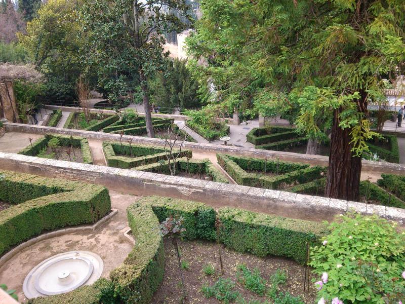 Mis viajes por el mundo jardines del generalife granada for Decoracion jardin granada